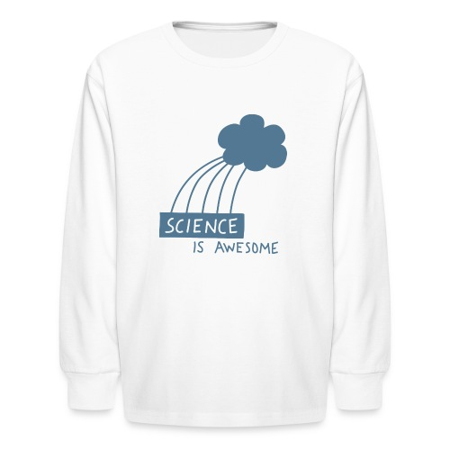 Science is Awesome - steel blue graphic - Kids' Long Sleeve T-Shirt