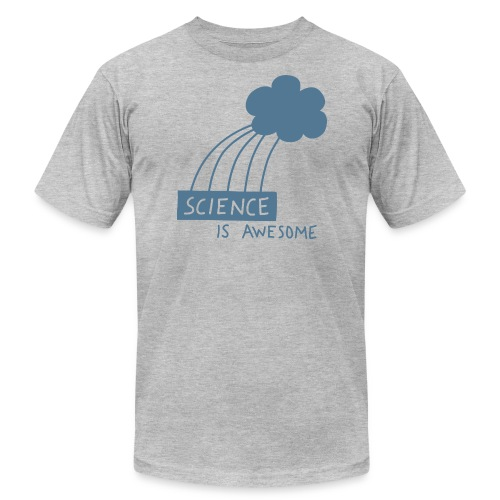 Science is Awesome - steel blue graphic - Men's Fine Jersey T-Shirt