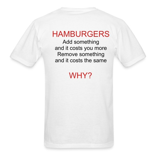 HAMBURGERS - Men's T-Shirt