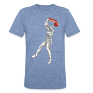 T-Shirts ~ Unisex Tri-Blend T-Shirt ~ Exciting Basket - Double Dribble