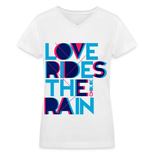 [CNB] Love RIdes the Rain - Women's V-Neck T-Shirt