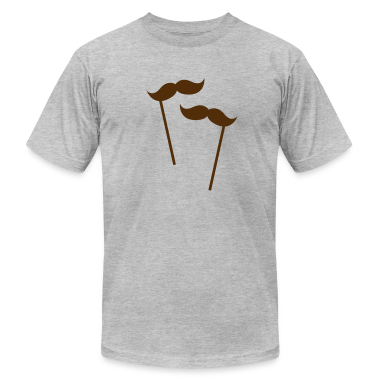 two moustaches on sticks  T-Shirts