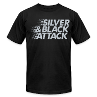 T-Shirts ~ Men's T-Shirt by American Apparel ~ Silver & Black Attack