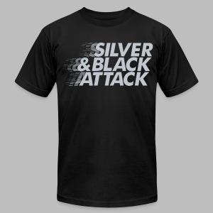 Silver & Black Attack - Men's T-Shirt by American Apparel