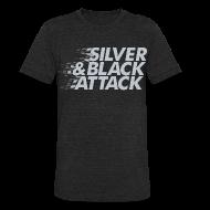 T-Shirts ~ Unisex Tri-Blend T-Shirt ~ Silver & Black Attack
