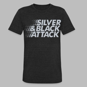 Silver & Black Attack - Unisex Tri-Blend T-Shirt by American Apparel