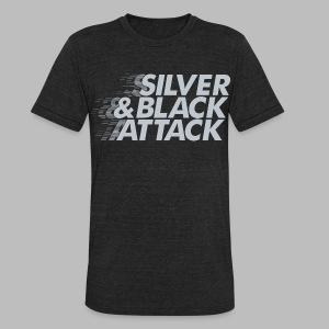 Silver & Black Attack - Unisex Tri-Blend T-Shirt