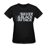 T-Shirts ~ Women's T-Shirt ~ Silver & Black Attack