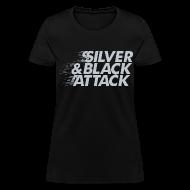 T-Shirts ~ Women's T-Shirt ~ Silver & Black Attack