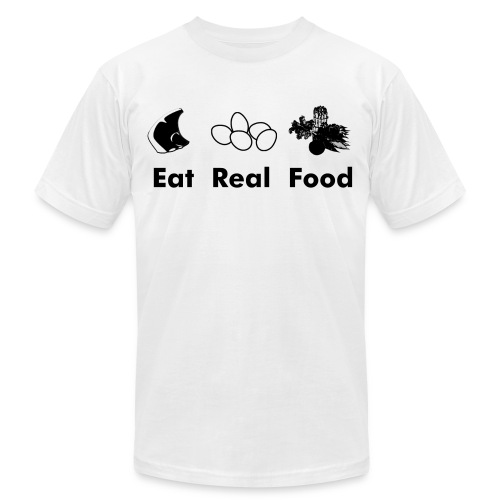 Eat Real Food - Men's Fine Jersey T-Shirt