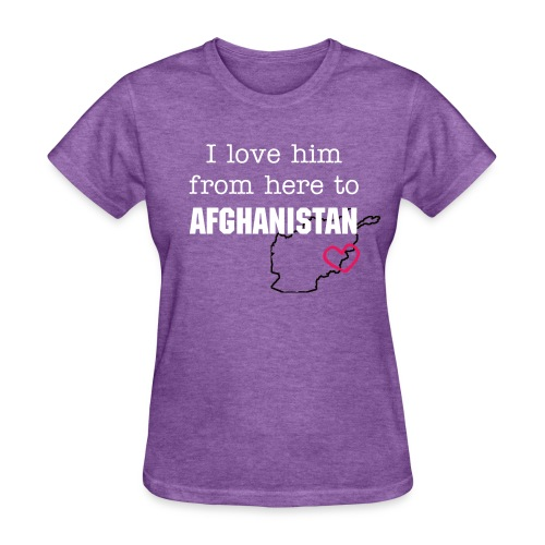 I love him from here to T-Shirt - Women's T-Shirt