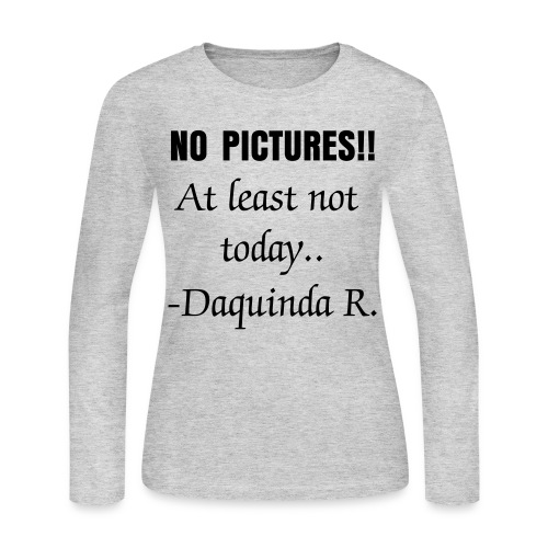 No Pictures - Women's Long Sleeve Jersey T-Shirt