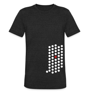 Unisex Tri-Blend T-Shirt by American Apparel - Indianapolis, Indiana themed abstract dot design from City State Tees. 2 color front print design on an American Apparel tri-blend vintage soft shirt. Choose your very own color shirt!