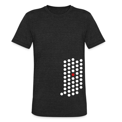 Unisex Tri-Blend T-Shirt - Indianapolis, Indiana themed abstract dot design from City State Tees. 2 color front print design on an American Apparel tri-blend vintage soft shirt. Choose your very own color shirt!