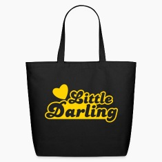 little darling with cute little love heart Bags