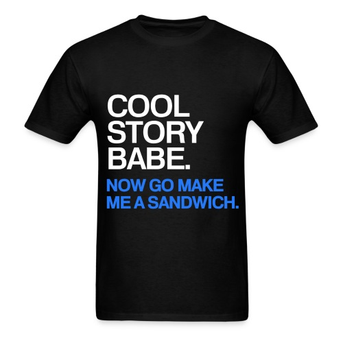 General - Cool Story Babe (Blue) - Men's T-Shirt