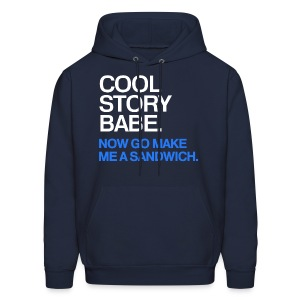 General - Cool Story Babe (Blue) - Men's Hoodie
