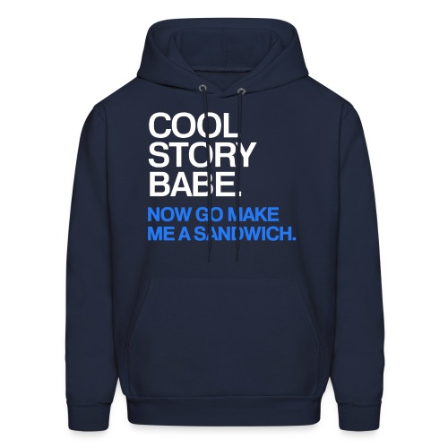 General - Cool Story Babe (Blue) - Men's Hoodie