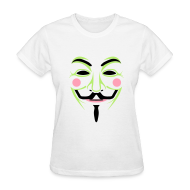 T-Shirts ~ Women's T-Shirt ~ Colorful Guy Fawkes Women's Tee