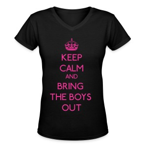 Girls' Generation - Keep Calm and Bring the Boys Out - Women's V-Neck T-Shirt