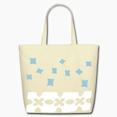 unique square shapes pattern vector graphic art Eco-Friendly Cotton Tote