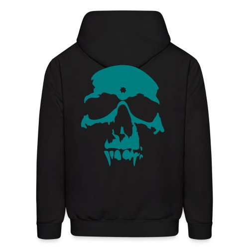 The Gang Without A Name - Black and Teal Hoodie - Swag Skull - Men's Hoodie