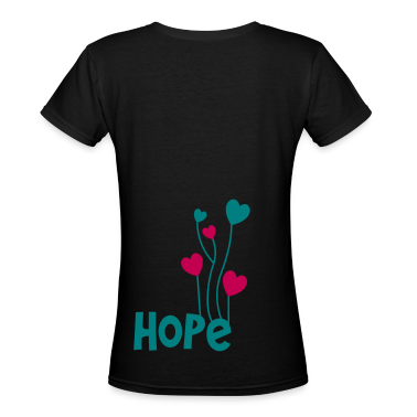 hope with beautiful love heart balloons Women's T-Shirts