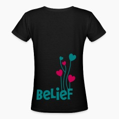 belief with love heart balloons uplifting Women's T-Shirts