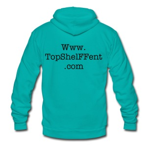 Top ShelFF ent Hoodie - Unisex Fleece Zip Hoodie by American Apparel