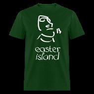 T-Shirts ~ Men's T-Shirt ~ Easter Island Moai Ancient Shirt (Text)