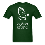 T-Shirts ~ Men's T-Shirt ~ Easter Island Moai Ancient Shirt (Text)