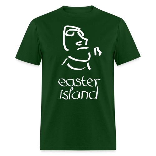 Easter Island Moai Ancient Shirt (Text) - Men's T-Shirt