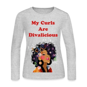 My Curls Are Divalicious  - Women's Long Sleeve Jersey T-Shirt