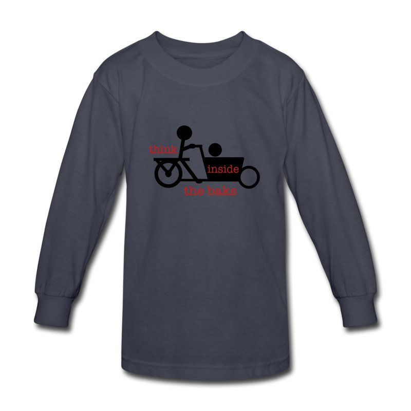 Think Inside the Baks - Kids' Long Sleeve T-Shirt
