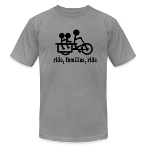 Men's Longtail Ride Families - Men's T-Shirt by American Apparel