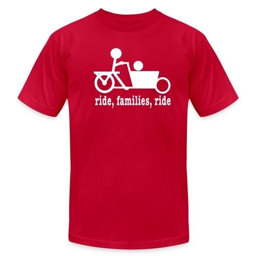 Men's Bakfiets Ride Families - Men's T-Shirt by American Apparel