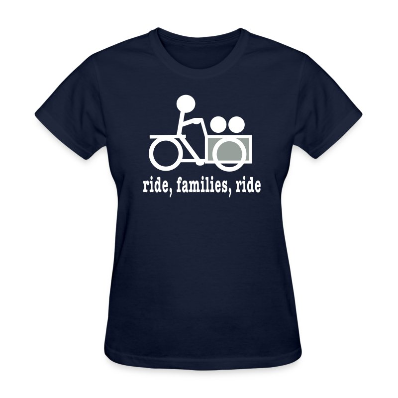 Women's Cargo Trike Ride Families - Women's T-Shirt