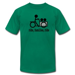 Men's Cargo Trike Ride Families - Men's T-Shirt by American Apparel