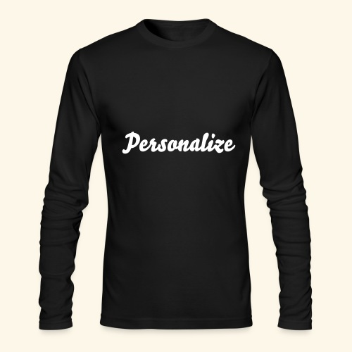 Personalize this AA Long Sleeve Tshirt - Men's Long Sleeve T-Shirt by Next Level