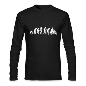Motorcycle Rider Evolution Scooter Vespa White - Men's Long Sleeve T-Shirt by Next Level