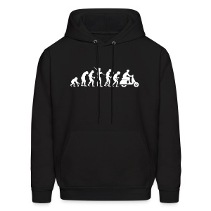Motorcycle Rider Evolution Scooter White - Men's Hoodie