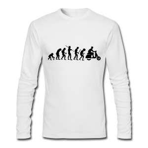 Motorcycle Rider Evolution Scooter Vespa Black - Men's Long Sleeve T-Shirt by Next Level