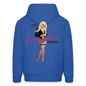 It's Johnny Boy Bitches! - Back - Men's Hoodie