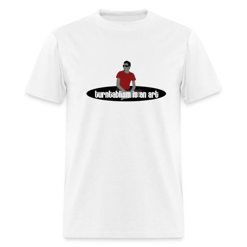Short Sleeve T-Shirt W/Turntable Is An Art Logo - Men's T-Shirt