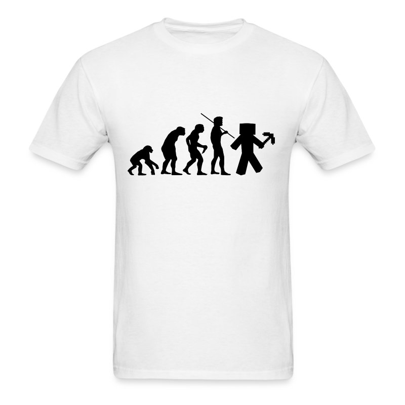 Mens Tee: Minecraft Evolution Black - Men's T-Shirt