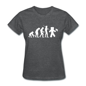 Ladies Tee: Minecraft Evolution White - Women's T-Shirt
