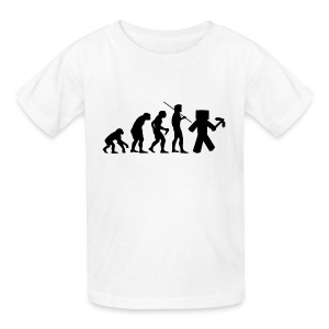 Kids Tee: Minecraft Evolution Black - Kids' T-Shirt