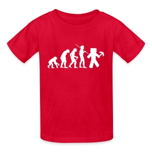 Kids Tee: Minecraft Evolution White - Kids' T-Shirt