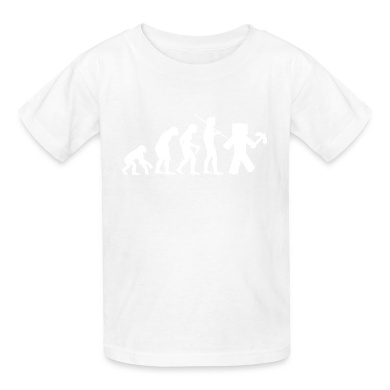 Kids Tee: Minecraft Evolution White T-Shirt | Yogscast