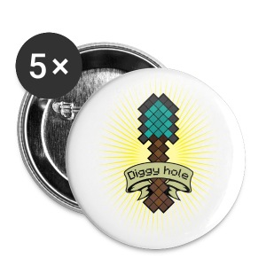 Diggy Hole Large Badge (5 Pack) - Large Buttons